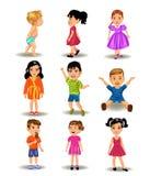 Raccolta dei bambini Fotografia Stock