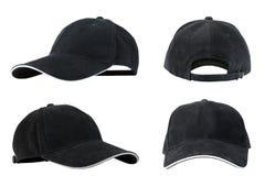 Raccolta dei berretti da baseball neri Immagine Stock Libera da Diritti