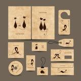 Raccolta dei biglietti da visita per la vostra progettazione Fotografia Stock Libera da Diritti