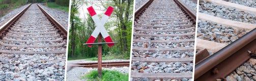 Raccolta dei binari ferroviari - rotaie del treno messe Immagine Stock