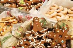Raccolta dei biscotti di Natale Immagini Stock