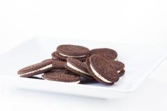 Raccolta dei biscotti su fondo bianco Fotografia Stock Libera da Diritti