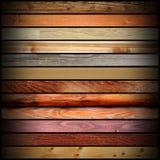 Raccolta dei bordi di legno d'annata Fotografia Stock
