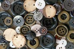 Raccolta dei bottoni di cucito Immagine Stock Libera da Diritti
