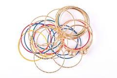 Raccolta dei braccialetti di modo, vista superiore Fotografie Stock Libere da Diritti