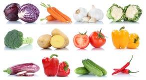 Raccolta dei broccoli f delle carote dei pomodori del peperone dolce delle verdure Fotografie Stock Libere da Diritti