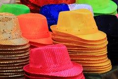 Raccolta dei cappelli di colore Fotografie Stock