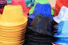 Raccolta dei cappelli di colore Fotografie Stock Libere da Diritti
