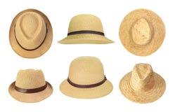 Raccolta dei cappelli di paglia Fotografie Stock