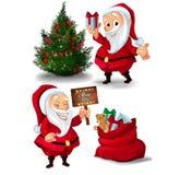 Raccolta dei caratteri di Santa Claus Immagini Stock