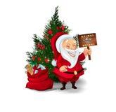 Raccolta dei caratteri di Santa Claus Fotografia Stock