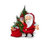 Raccolta dei caratteri di Santa Claus Immagine Stock