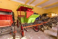 Raccolta dei carrelli nel palazzo della città a Jaipur Fotografia Stock