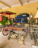 Raccolta dei carrelli nel palazzo della città a Jaipur Fotografie Stock Libere da Diritti