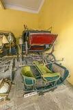 Raccolta dei carrelli nel palazzo della città a Jaipur Immagine Stock