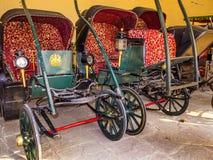 Raccolta dei carrelli nel palazzo della città a Jaipur, India. Fotografia Stock Libera da Diritti