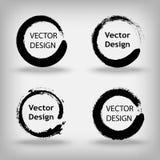 Raccolta dei cerchi dipinti creativi artistici per il logo, etichetta, marcante a caldo Immagine Stock