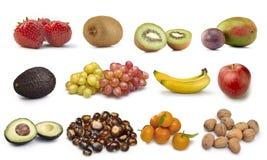 Raccolta dei certi frutti isolata Immagini Stock Libere da Diritti