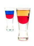 Raccolta dei cocktail - colpo russo e tequila rossa Immagine Stock