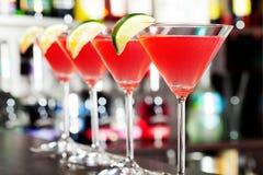 Raccolta dei cocktail - cosmopolita Fotografia Stock Libera da Diritti