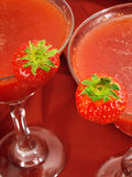 Raccolta dei cocktail - Daiquiris di fragola Fotografia Stock