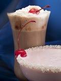 Raccolta dei cocktail - frappé della fragola e del cioccolato Fotografia Stock