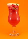 Raccolta dei cocktail - frullato dell'anguria e della fragola Immagini Stock