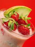 Raccolta dei cocktail - frullato dell'anguria e della fragola Immagine Stock Libera da Diritti