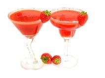 Raccolta dei cocktail - margarita & daiquiri della fragola Fotografia Stock