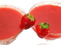 Raccolta dei cocktail - margarita & daiquiri della fragola Immagini Stock Libere da Diritti