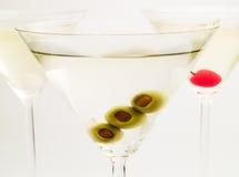Raccolta dei cocktail - Martinies Fotografia Stock Libera da Diritti