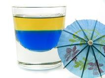 Raccolta dei cocktail - tequila blu (su bianco) Fotografia Stock Libera da Diritti