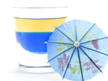 Raccolta dei cocktail - tequila blu (su bianco) Fotografia Stock