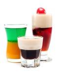 Raccolta dei cocktail - tre colpi Fotografie Stock Libere da Diritti