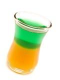 Raccolta dei cocktail - verde ed oro Fotografia Stock Libera da Diritti