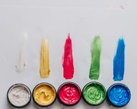Raccolta dei colpi acrilici astratti della spazzola Fotografia Stock