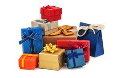 Raccolta dei contenitori di regalo Immagine Stock