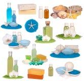 Raccolta dei cosmetici della stazione termale Immagini Stock Libere da Diritti