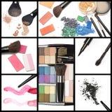 Raccolta dei cosmetici di trucco Fotografie Stock Libere da Diritti
