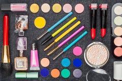 Raccolta dei cosmetici professionali Immagine Stock