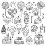 Raccolta dei dolci illustrazione vettoriale