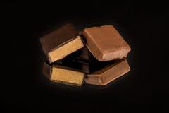 Raccolta dei dolci del cioccolato Fotografie Stock
