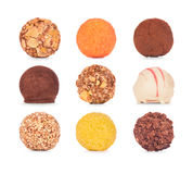 Raccolta dei dolci del cioccolato Caramelle di cioccolato Fotografia Stock