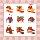 Raccolta dei dolci su fondo bianco Fotografia Stock Libera da Diritti
