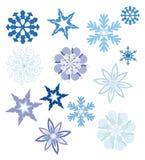Raccolta dei fiocchi di neve Fotografie Stock Libere da Diritti