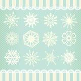 Raccolta dei fiocchi di neve di vettore Immagini Stock Libere da Diritti