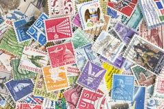 Raccolta dei francobolli degli Stati Uniti Immagini Stock Libere da Diritti