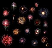 Raccolta dei fuochi d'artificio Fotografia Stock
