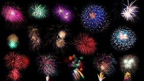 Raccolta dei fuochi d'artificio Fotografia Stock Libera da Diritti
