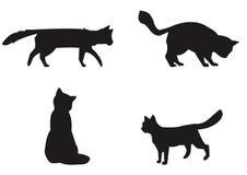 Raccolta dei gatti - siluetta di vettore. Immagine Stock